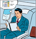 Reading the book on a plane